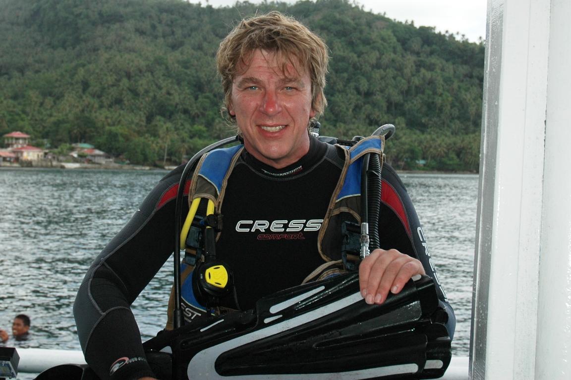Mit dem Unterwasserfilmer Peter Löseke ist eine tolle DVD gesichert.